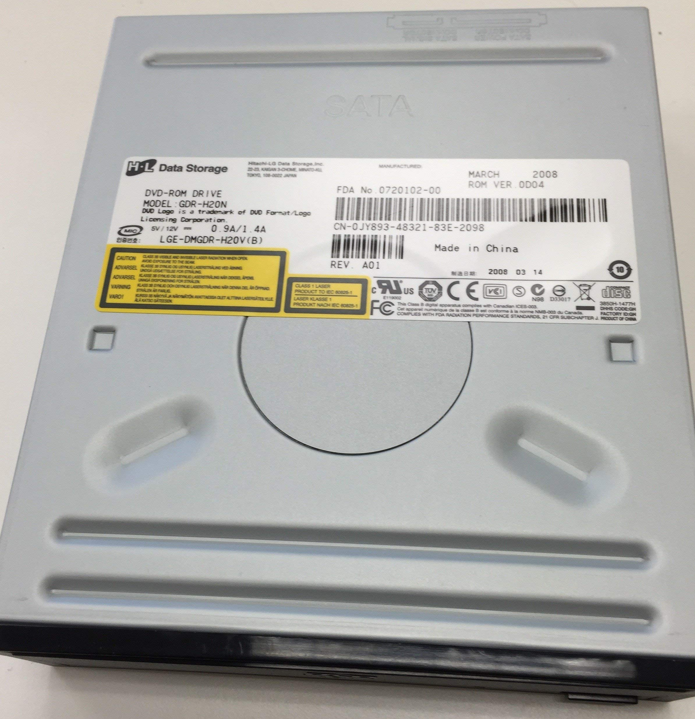 LG GDR-H20N 16x DVD-ROM SATA Drive (Black) (Certified Refurbished)