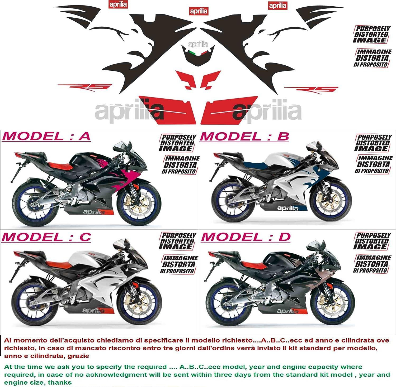 Kit adesivi decal stickers aprilia rs 125 2006 INDICARE IL MODELLO A o B o C o D