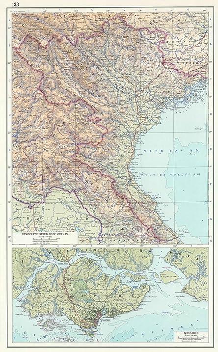 Amazon world atlas 1967 133 democratic republic of vietnam world atlas 1967 133 democratic republic of vietnam north vietnam the gumiabroncs Choice Image