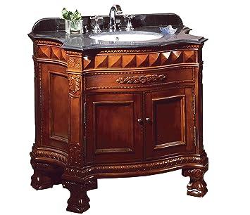 ove buckingham 36 bathroom 36 inch vanity ensemble with black granite countertop and ceramic - Ensemble Vanite Armoire