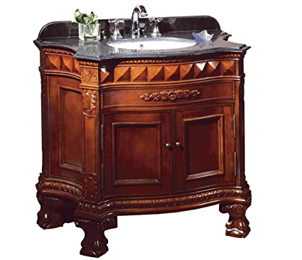 Ove Decors Buckingham 36 Bathroom 36 Inch Vanity Ensemble With Black  Granite Countertop And Ceramic