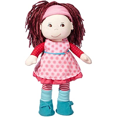 "HABA Clara 13.5"" Soft Doll with Auburn Hair, Brown Eyes and Embroidered Face for Ages 18 Months and Up: Toys & Games"