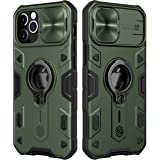 CloudValley Compatible with iPhone 12 Pro Max Case with Camera Cover & Kickstand, Duty Military Grade Armor Protection Cover,