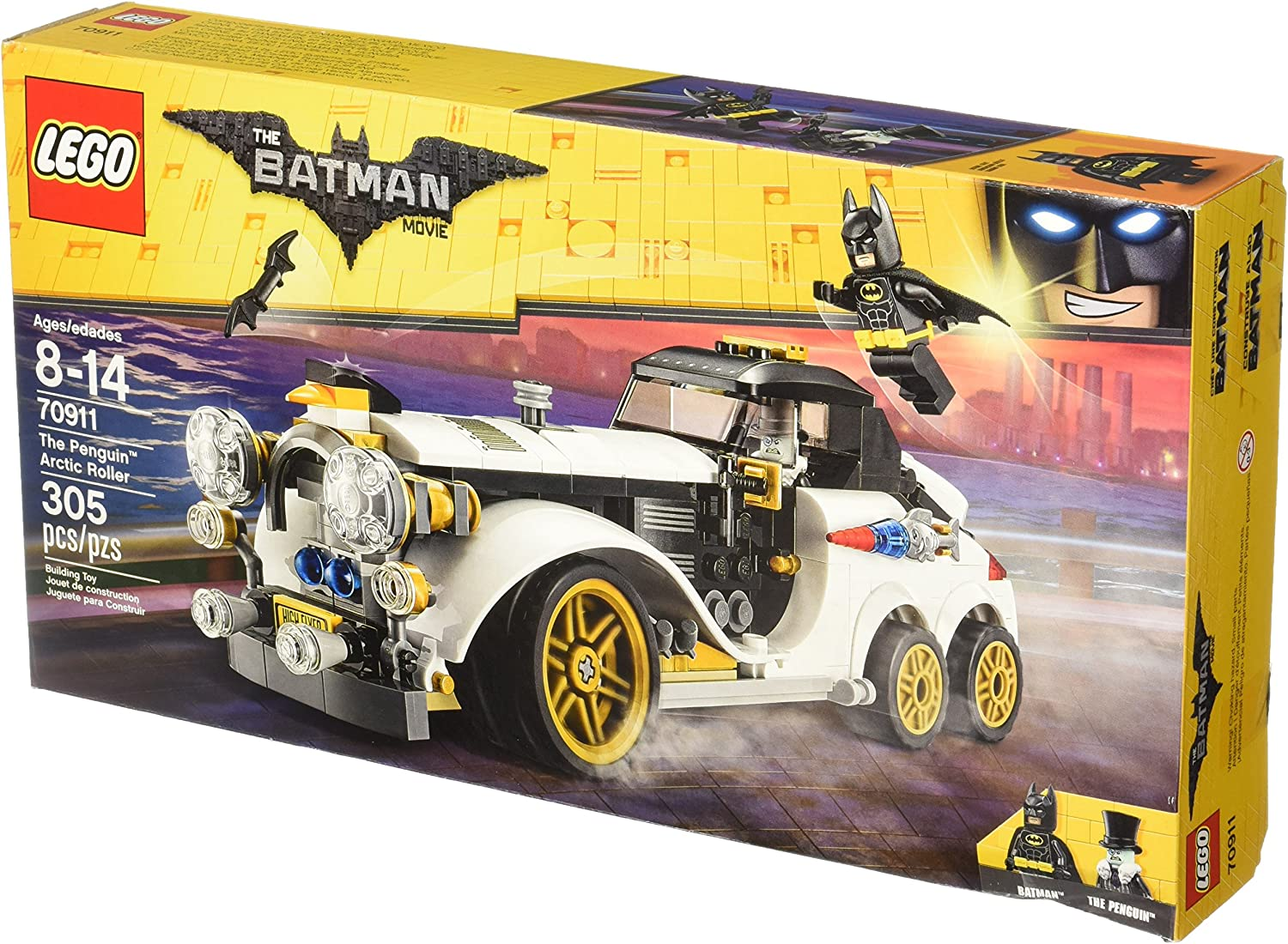 Amazon Com Lego Batman Movie The Penguin Arctic Roller 70911 Building Kit Toys Games