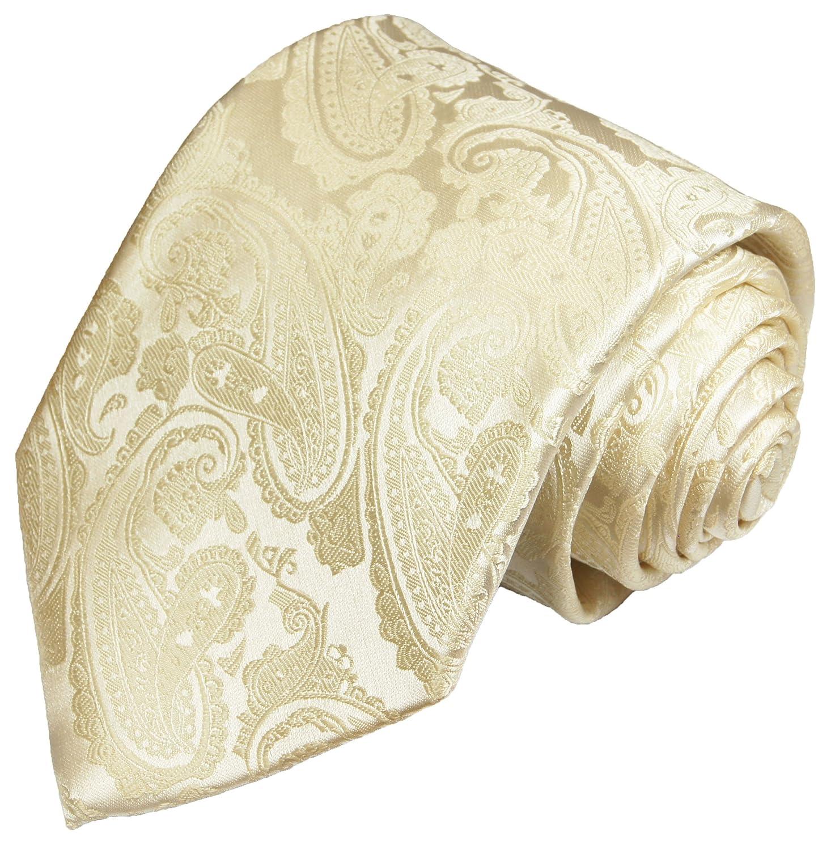 Krawatte von Paul Malone champagner paisley Hochzeitskrawatte Bräutigam Tie v26