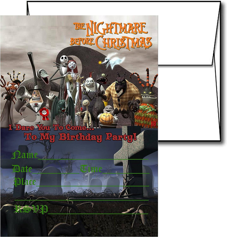 THE NIGHTMARE BEFORE CHRISTMAS SET OF 12 Greeting Cards JACK SKELLINGTON 4x3