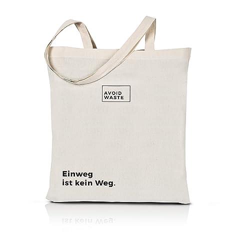 avoid waste - bolsa reutilizable de algodón bolsa sostenible premium bolsa de tela de yute con asas largas bolsa de compra respetuoso con el medio ...