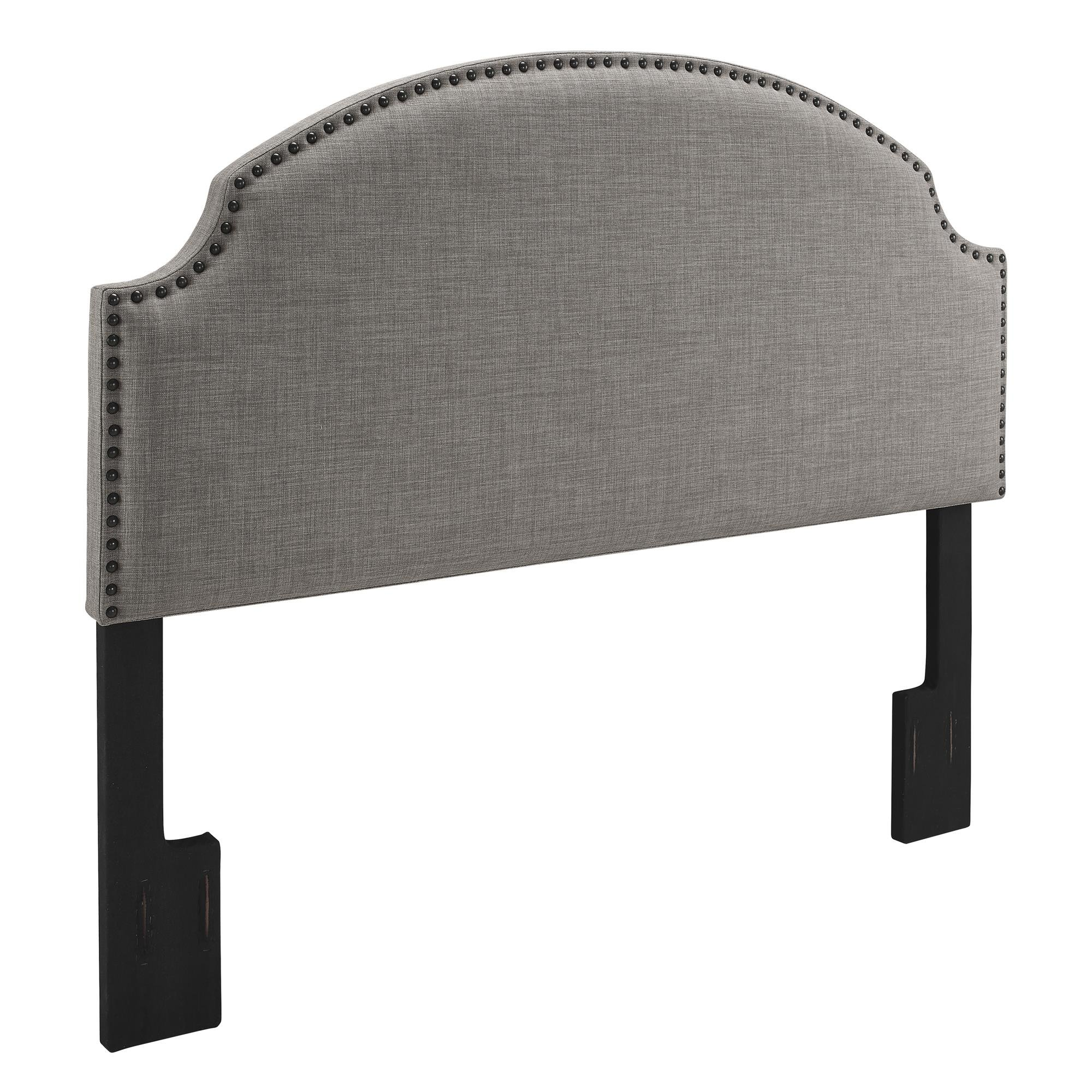 Dorel Living Skylar Nailhead Linen Headboard, Gray by Dorel Living