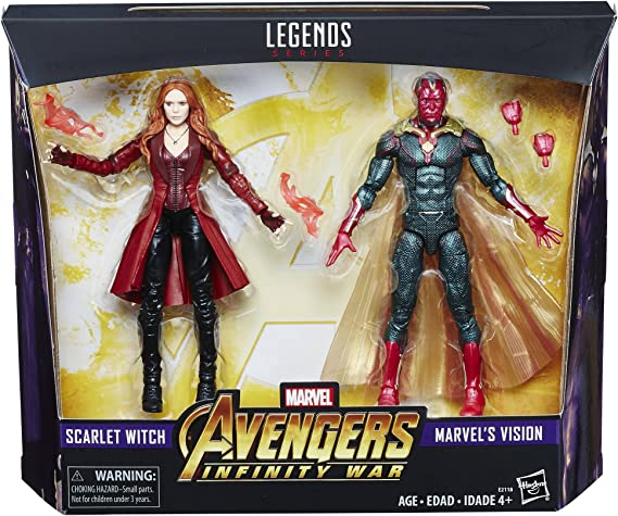 Marvel Hasbro Legends Toys R Us Exclusive Avengers Infinity War 2-Pack Vision and Scarlet Witch: Amazon.es: Juguetes y juegos