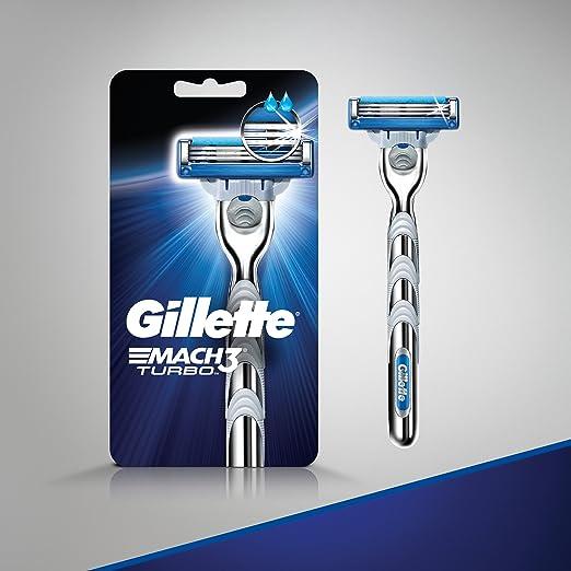 Gillette Mach3 Turbo hombres de navaja de afeitar con 1 Mach3 Turbo hombres de cuchilla de afeitar, 1 Count: Amazon.es: Salud y cuidado personal