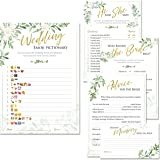 bridal shower games set of 5 games 50 sheets each floral rustic greenery