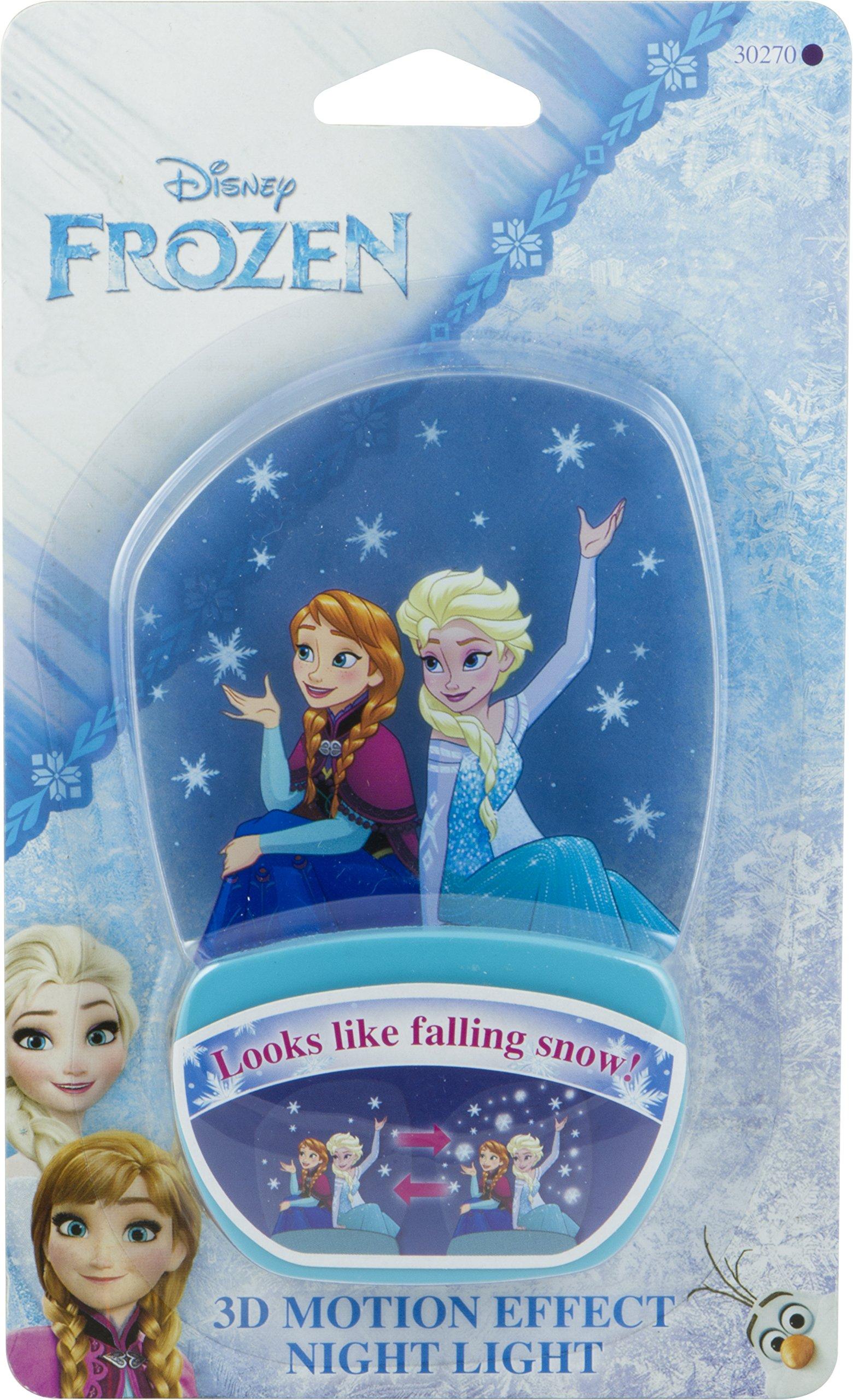 Frozen 3D Motion Effect Night Light Nightlight Elsa 'Looks Like Falling Snow'New