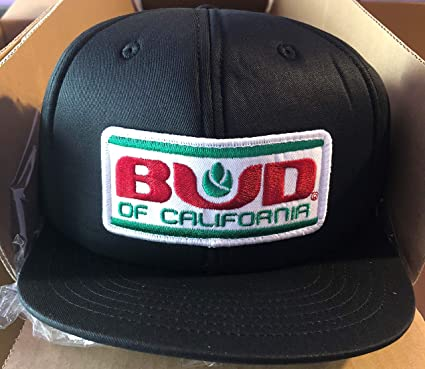 Amazon.com  K-Products Bud of California Caps (BLACK)  Clothing 22ab02cedc6