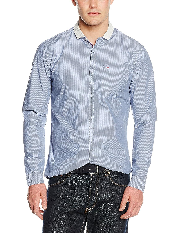 Hilfiger Denim Herren Freizeit Hemd Thdm Stripe Shirt L/s 7
