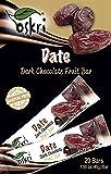 Oskri Dark Chocolate Fruit Bar, Dates Ginger, 1.58 Ounce (Pack of 20)