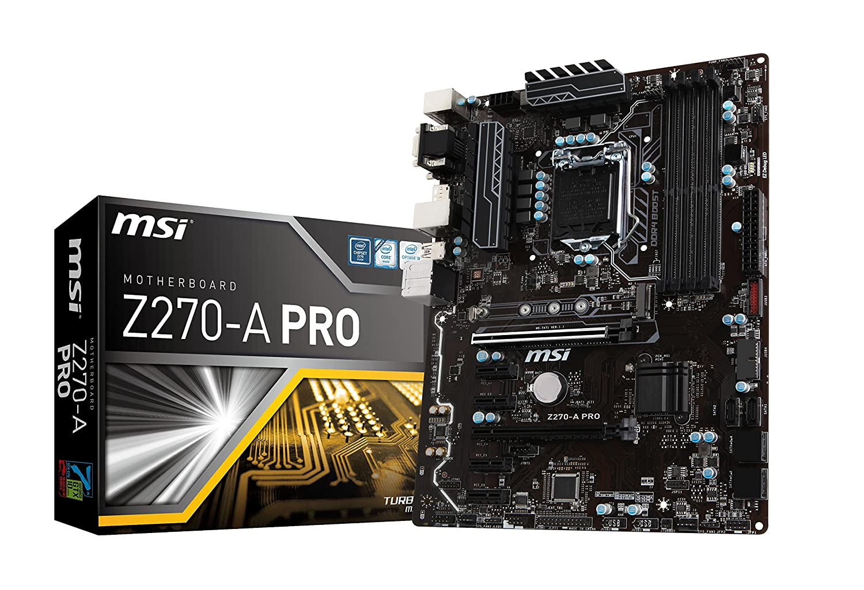 MSI Pro Series Intel Z270 DDR4 USB 3 CrossFire ATX Motherboard (Z270-A PRO)