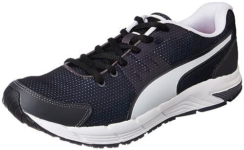 84f6140bb5a Puma Men s Ultron IDP Asphalt-Black- White Running Shoes - 10 UK India