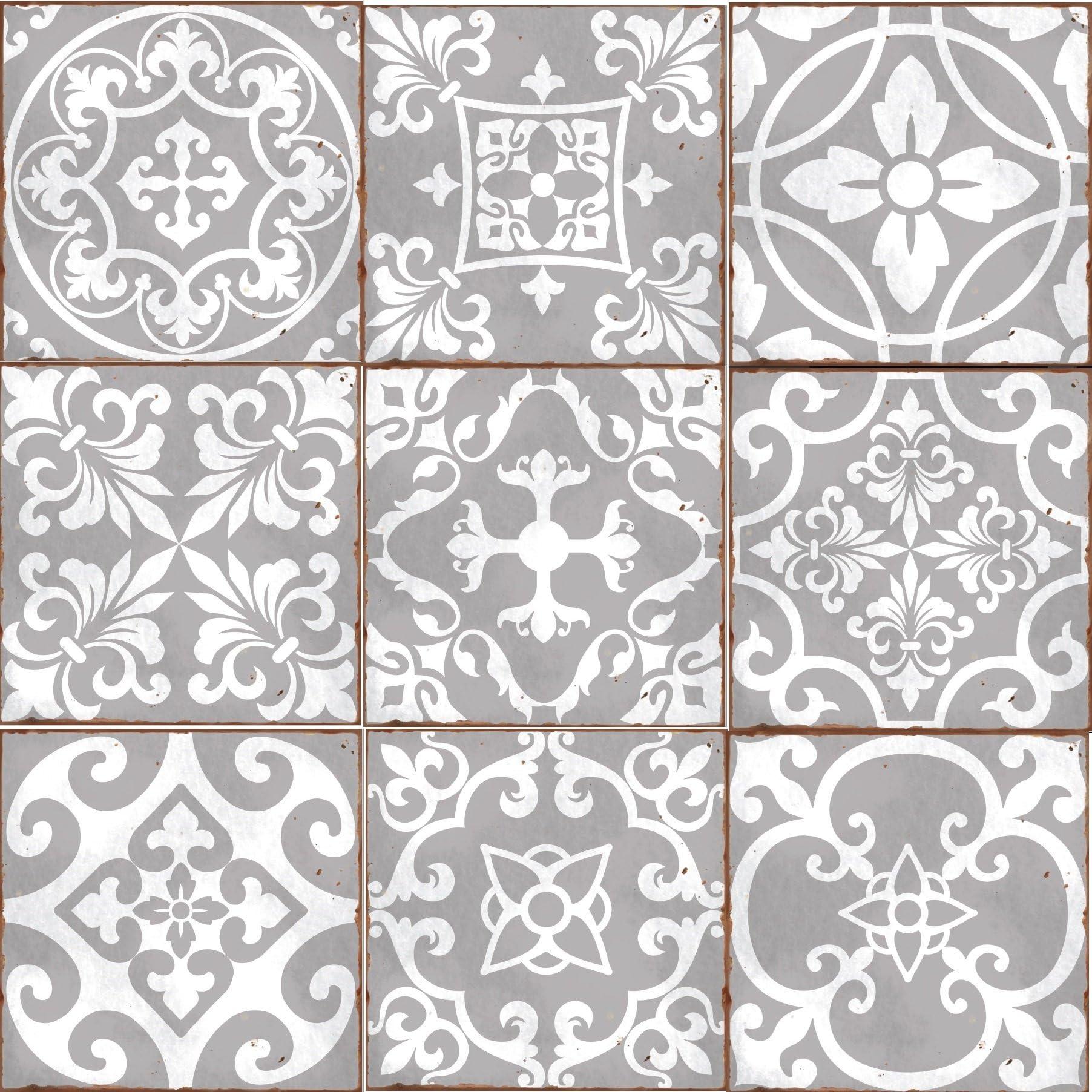 tile stickers home kitchen amazon co uk rh amazon co uk Decorative Tile Backsplash Decorative Kitchen Floor Tile