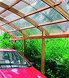 Carport modulable single en bois avec toit en PVC