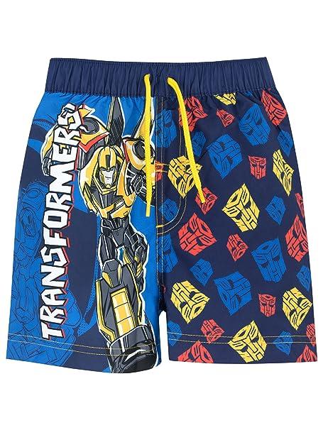 74f58cdaa1 Transformers Boys Bumblebee Swim Shorts Ages 3 to 10 Years: Amazon ...