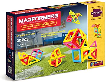 Magformers Tiny Friends 20 Pieces Rainbow Colors Educational Toy Set