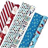 Hallmark 双面圣诞节包装纸包,儿童(3 件装,120 平方 英尺。 ttl。) Kids Joy, 3 Pack Kids Joy, 3 Pack 5JXW1030