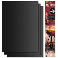 BeeProducts Grillmatte (3er Set) Extra Groß Zum Grillen und Backen 40x50 cm