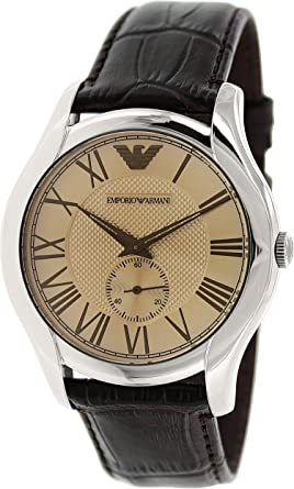 0e01be1c8 Emporio Armani For Men Light Brown Dial Leather Band Watch AR1704 ...