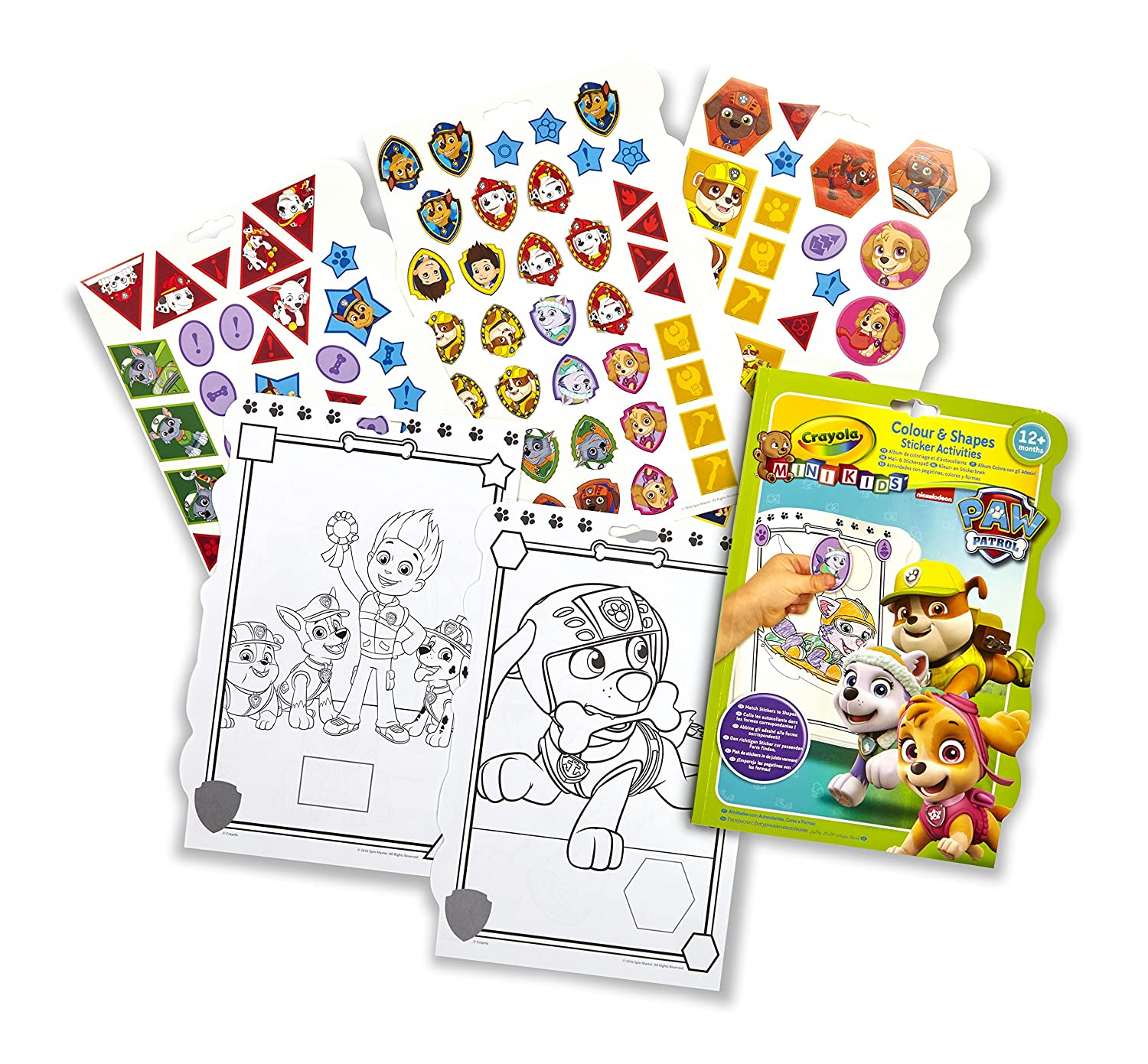 Crayola My First Color /& Shapes Sticker Activities Paw Patrol 81-1373-E-000