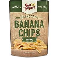 Sun Tropics Island Saba Banana Chips, Original, 4 oz (6 Pack), Vegan, Gluten Free, Non GMO, Made with Coconut Oil…