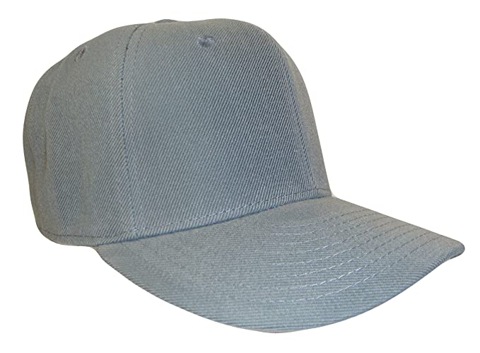 1e0a4f16f80c8 Image Unavailable. Image not available for. Color  Plain Solid Fitted Curved  Bill Baseball Cap ...