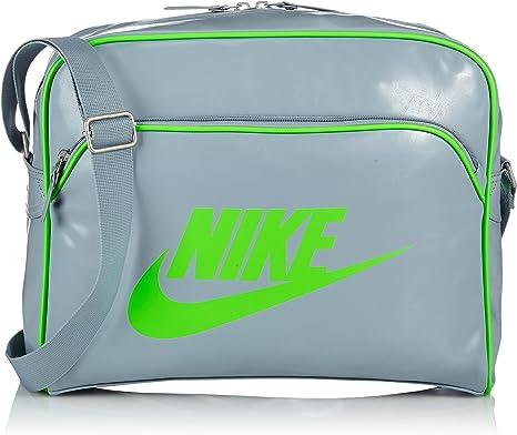Nike, Borsa a Tracolla Uomo Heritage, Grigio (Dove Grey/Dovegy