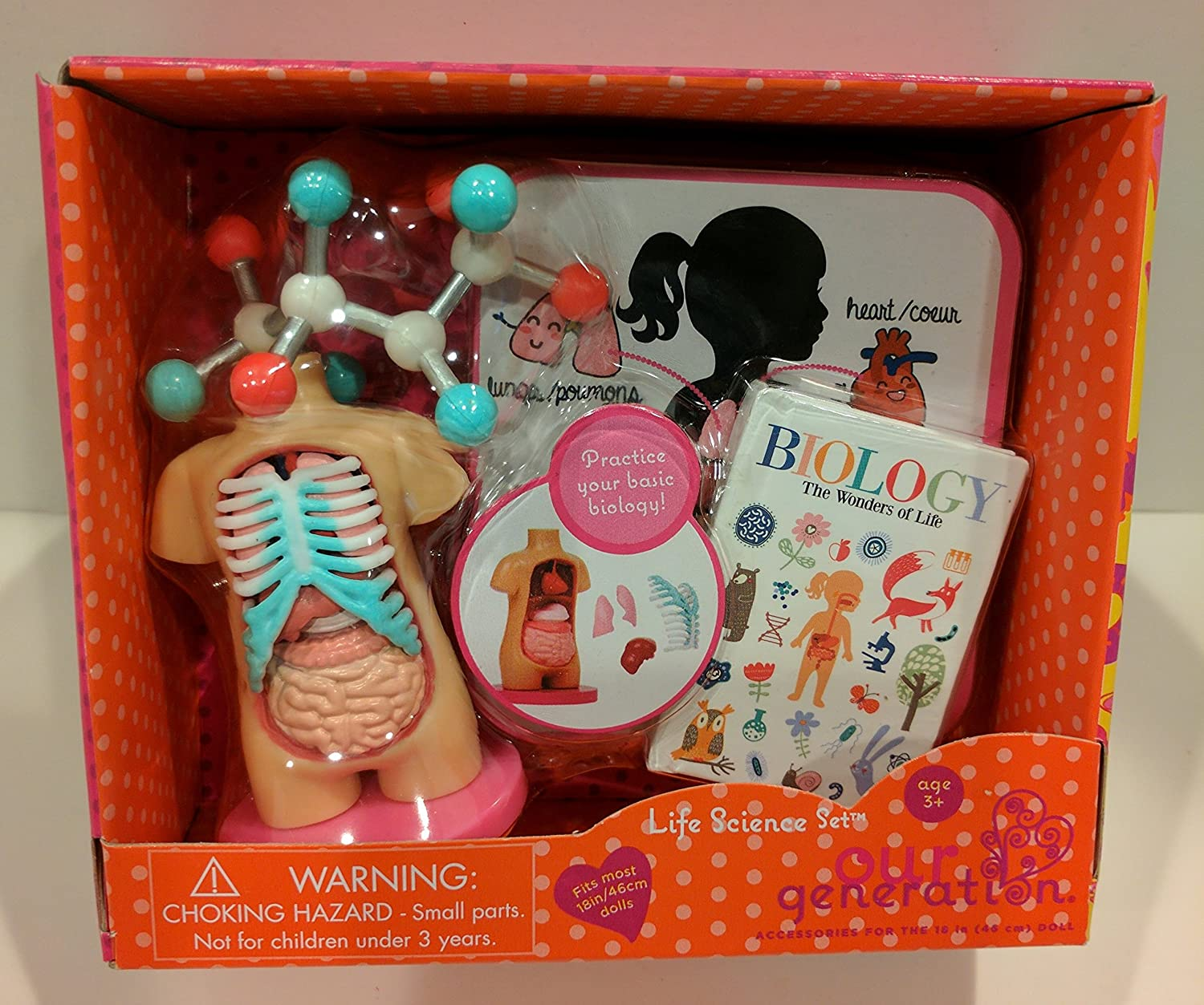 Amazon.com: Our Generation Life Science 18 Doll Accessories Biology ...