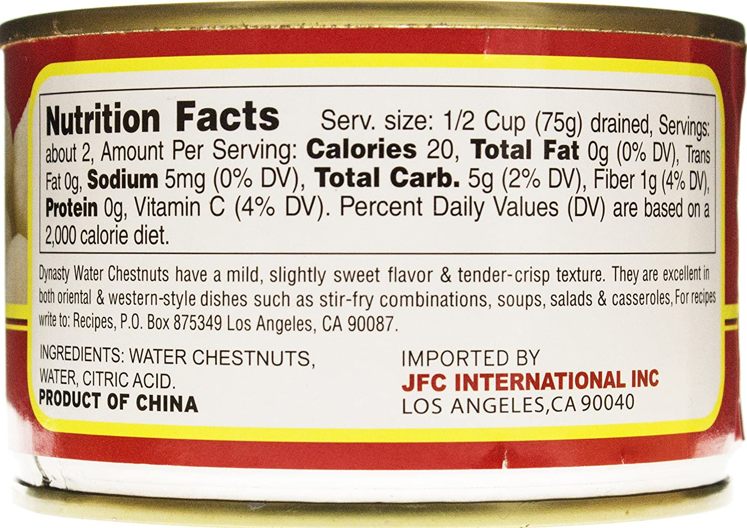 Amazon.com: Dynasty Canned Whole Water Chestnuts, 8 Ounce: Prime ...