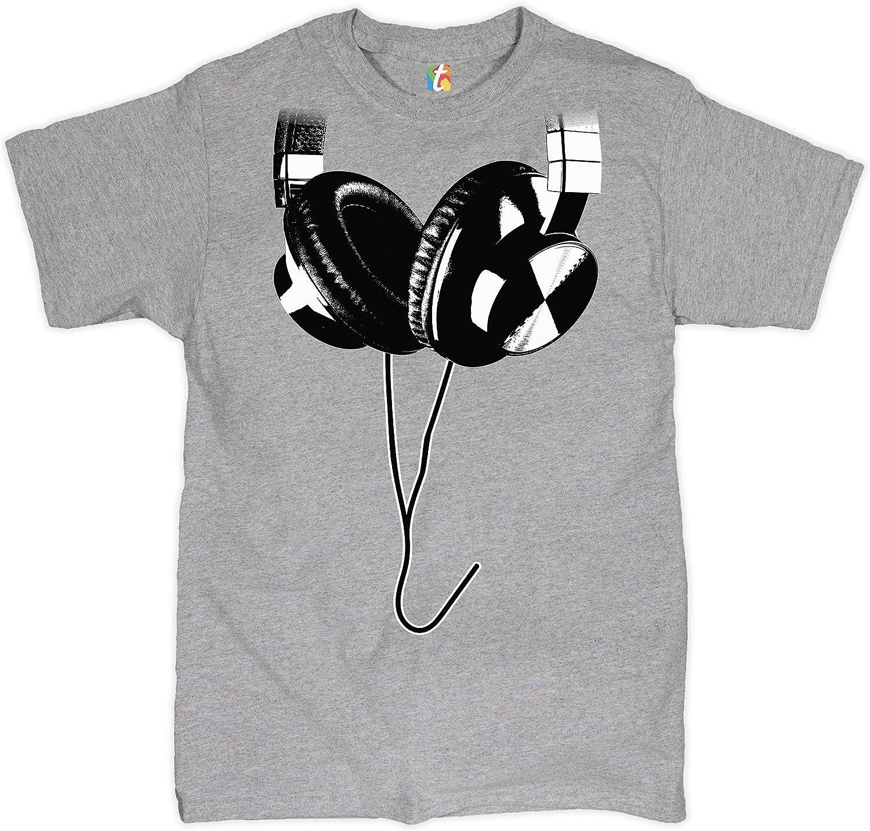 Huge Hanging Headphones Crew Neck Sweatshirt DJ Music
