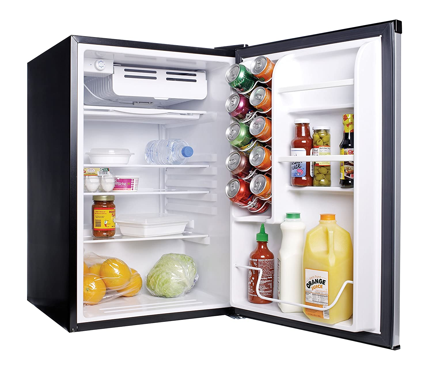 refrigerator 4 5 cu ft. amazon.com: haier hc45sg42sv 4.5 cubic feet refrigerator/freezer, white interior, vcm door: appliances refrigerator 4 5 cu ft l