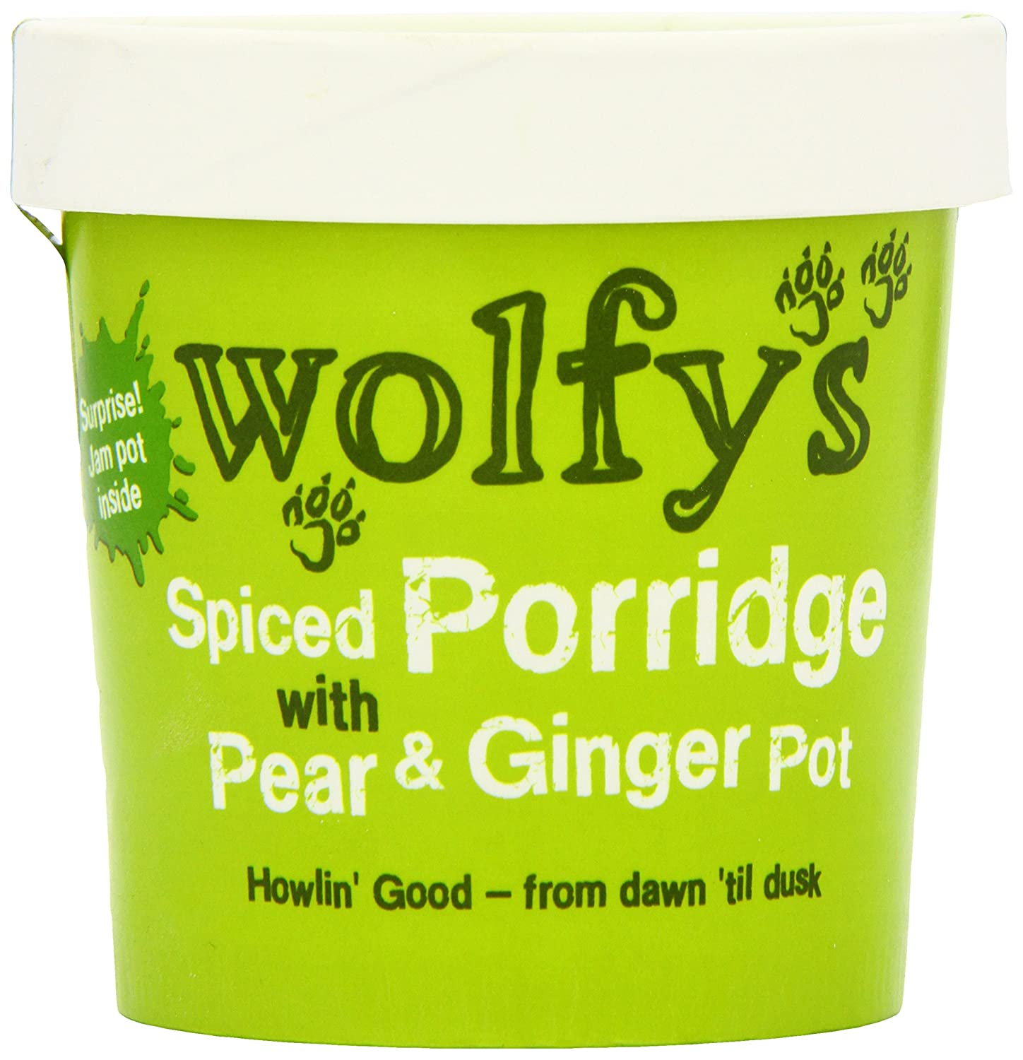 Wolfy's Spiced Porridge with Pear and Ginger Pot 102 g (Pack of 6) Wolfys