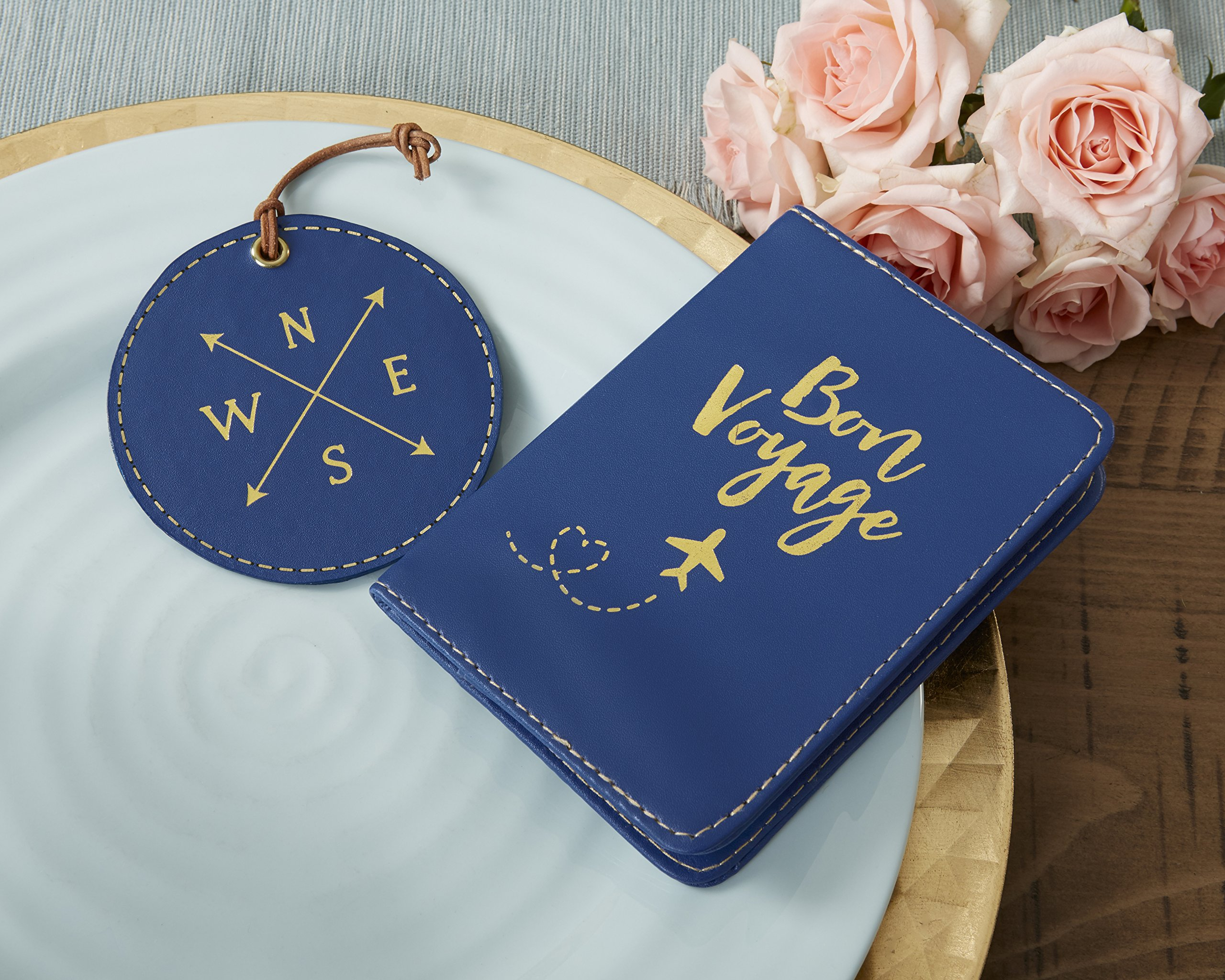 Kate Aspen, Bon Voyage Getaway Gift Set, Passport Cover and Luggage Tag by Kate Aspen