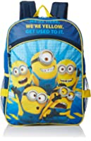 Despicable Me Boys' Universal Pictures Blue 16 Inch Backpack with Lunch Bag