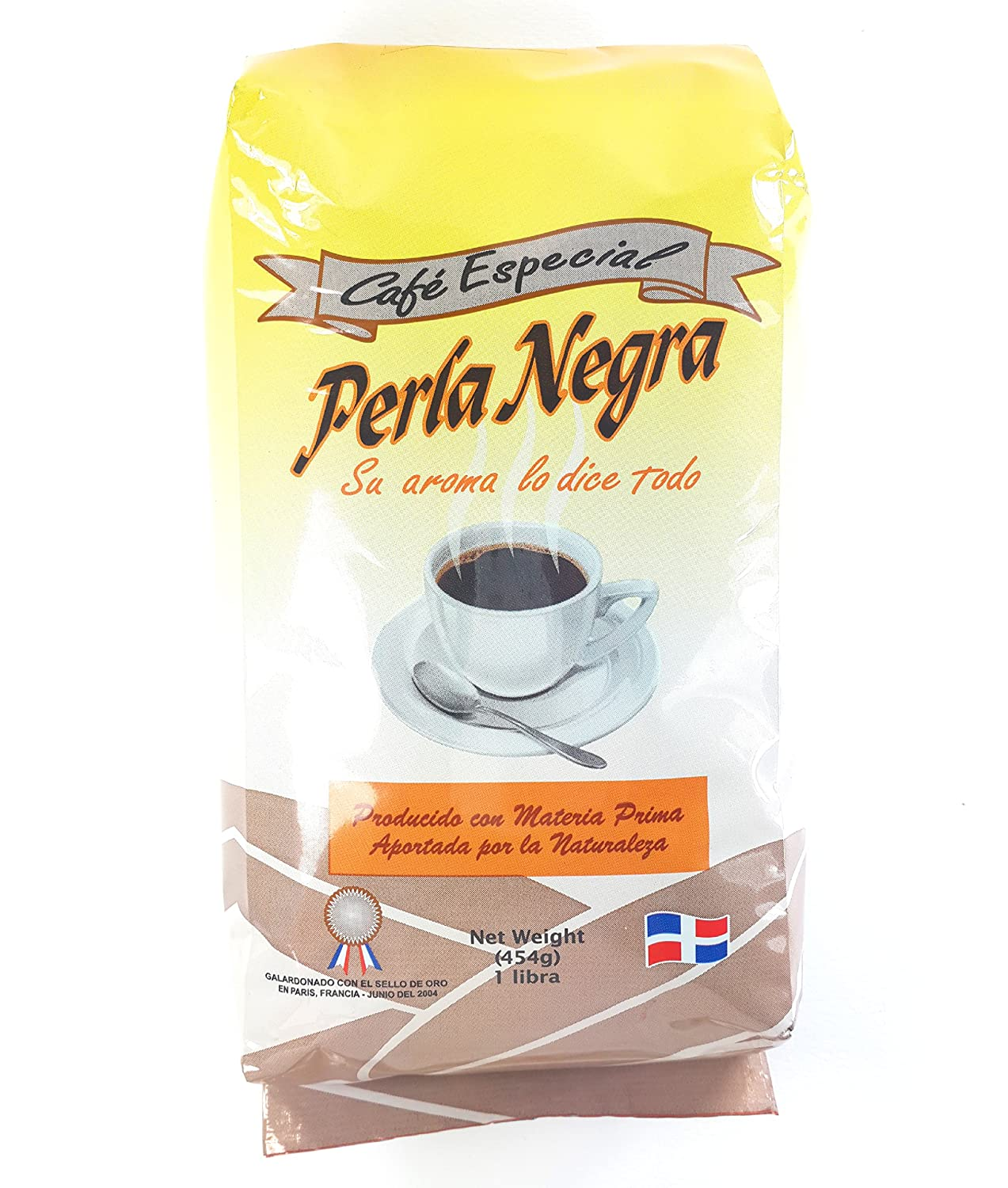 Amazon.com : New Perla Negra Ground Dominican Coffee 4 Bags / Pounds Pack : Grocery & Gourmet Food