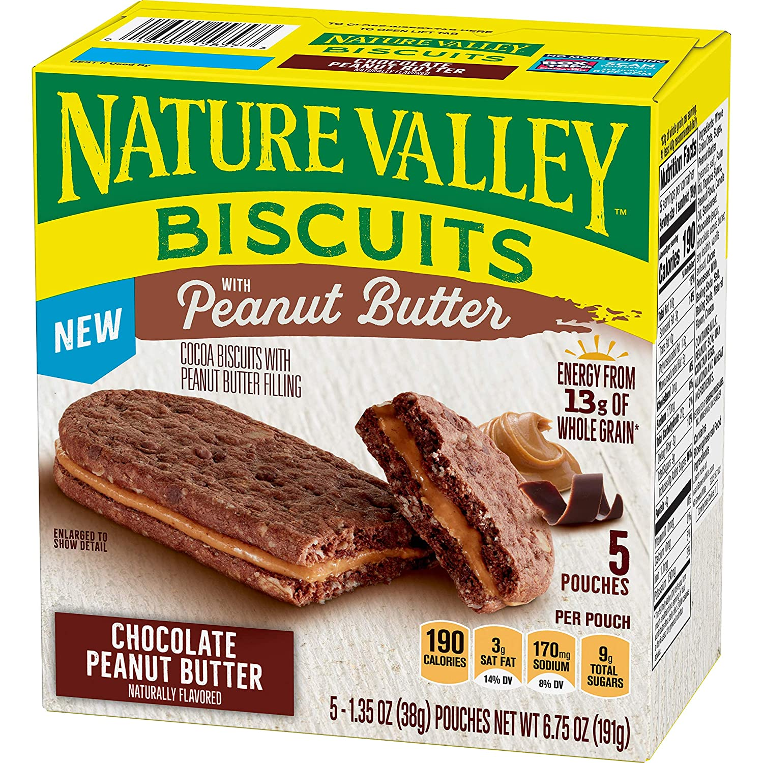 Nature Valley Chocolate Biscuits With Peanut Butter, 6.75 oz