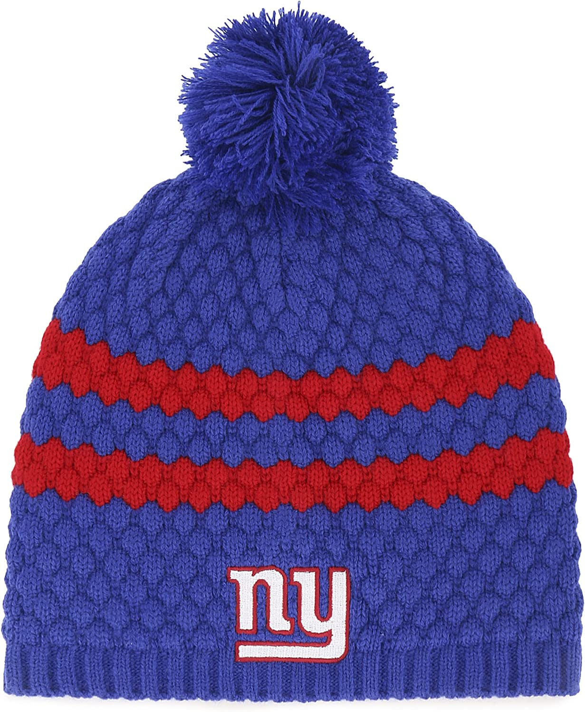 Team Color Womens OTS NFL New York Giants Womens Winona Beanie Knit Cap