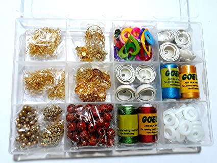 af2886868 Buy Am Silk Thread Earring/Jhumka Making Kit- All Jhumka Making Materials-  Makes Different Shape Of Earrings With Storage Box Online at Low Prices in  India ...
