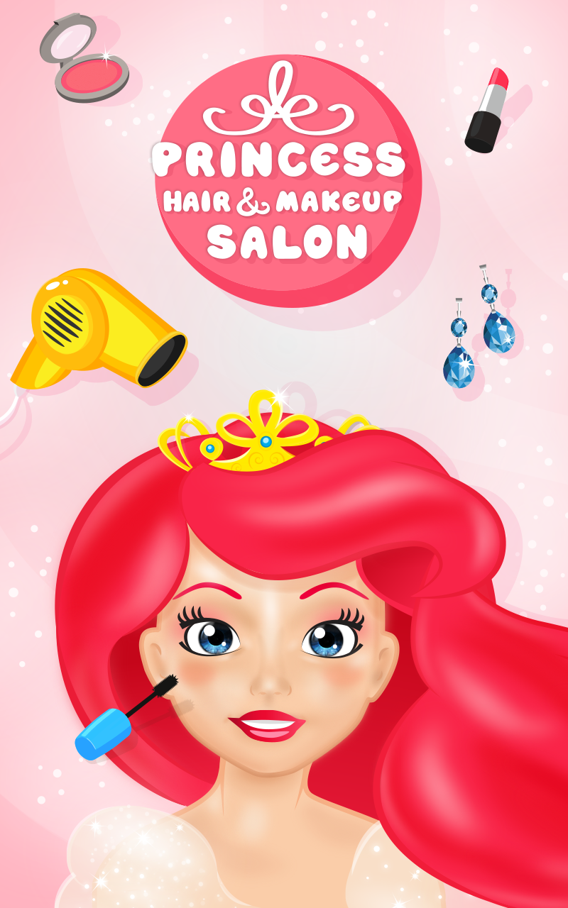 Amazon princess hair makeup salon makeover game for girls 000 solutioingenieria Choice Image