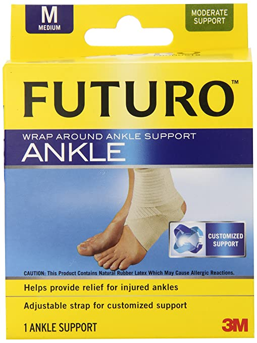 Futuro Ankle Brace Futuro Ankle Brace Review 2018 updated October 5, 2018  Futuro Products, a subsidiary of the 3M company, are a popular top rated supplier of ankle support and protection products. With 11 products in their catalog, their distinctive yellow box packaging can be seen in gyms and running tracks the world over. Futuro are well regarded for the extensive research and development that goes into their product development.  In this article, we take an in-depth look at the best of the Futuro range, We then compare them with other market leaders.  Quick Navigation The Best of Futuro Futuro Sports Deluxe Futuro Wrap Around Ankle Brace Futuro Infinity Precision Fit Futuro Sports Adjustable Ankle Brace Futuro Alternatives ASO EVO Stabilizer ACE Deluxe Ankle Stabilizer Active Ankle Power Lace Up Conclusion  The Best of Futuro The 2018 range includes arch supports, wrap around ankle supports, stirrup braces, moisture control supports and ankle stabilizers. In this section, we take a close look at their top 4 performers:  Futuro Sports Deluxe Futuro Wrap Around Ankle Brace Futuro Infinity Precision Fit Futuro Sports Adjustable Ankle Brace In the following section, we compare the Futuro range with 3 competing market leaders; the ASO EVO Stabilizer, ACE Deluxe Ankle Stabilizer and Active Ankle Power Lace Up.  Futuro Sports Deluxe Futuro Sports Deluxe The Futuro Sports Deluxe ankle support is designed to allow you to keep playing despite ankle injury. You wear it over your sock and inside your sports shoe to provide yourself with maximum protection while ensuring full mobility. The durable construction material provides rigid support while promoting flexibility. It is highly breathable and has moisture wicking properties to allow for aeration.  The Sports Deluxe features reinforced side stabilizers which limit the amount of lateral movement, thus protecting the most vulnerable parts of the ankle joint. Adjustable closures provide the ability to get a customized fit and total support, while ankle straps lift and support the ankle. The sleeve has been made following an easy fit ergonomic design that makes it a breeze to slip on and fit under your shoe. This is a bidirectional sleeve, suitable for booth left and right feet.  PROS Moisture wicking Adjustable closures Reinforced side stabilizers CONS No double stitching CLICK HERE FOR PRICE Futuro Wrap Around Ankle Brace