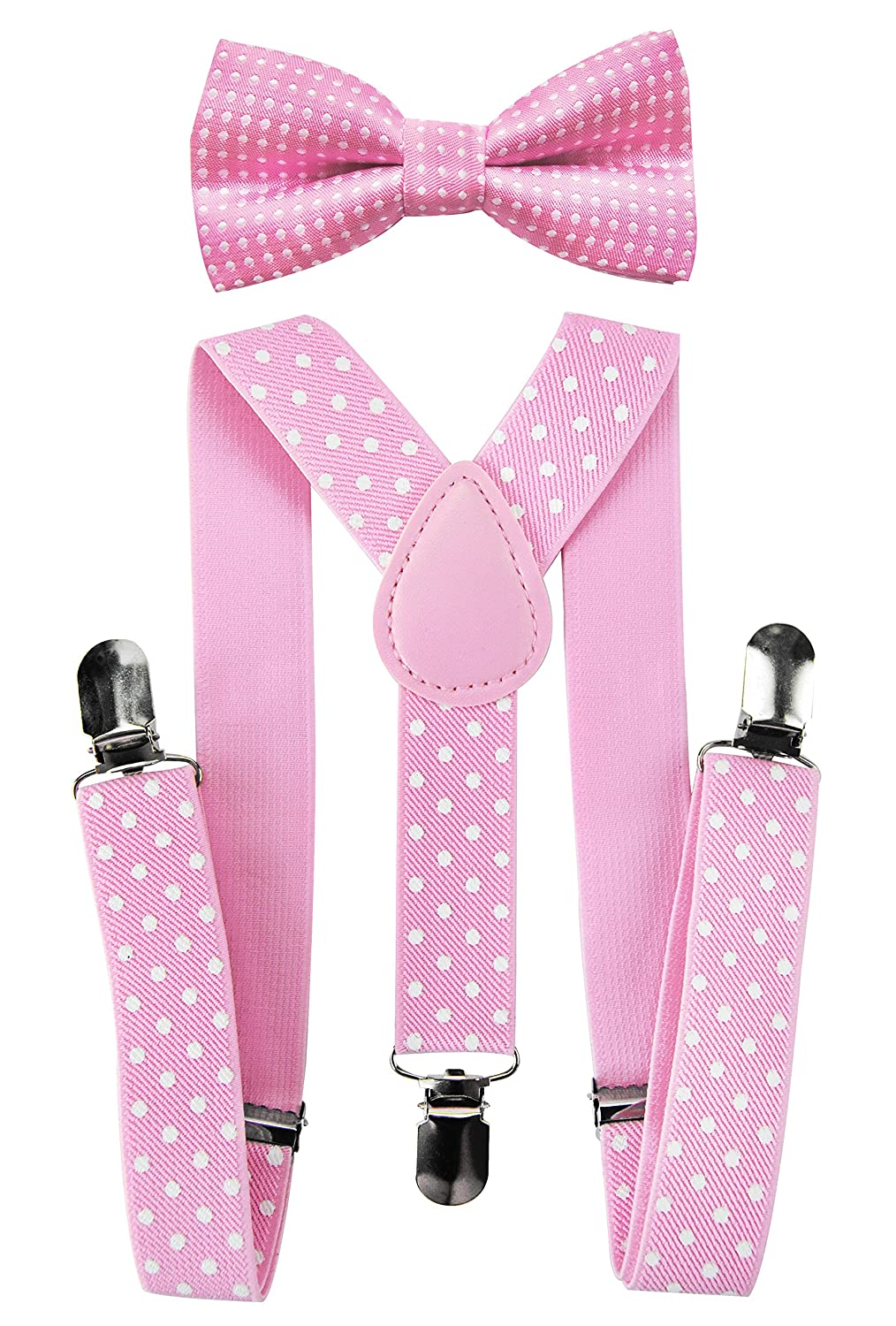 Axy High Quality Kids Trouser Braces Suspenders Y Shape with 3Fly Clips Extra Strong Plain Plain Colours Orange HTK25-1