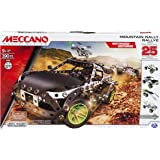 Meccano Motorized Mountain Rally Vehicle, 25 Model Building Set, 390 Pieces, For Ages 9+, STEM Construction Education Toy