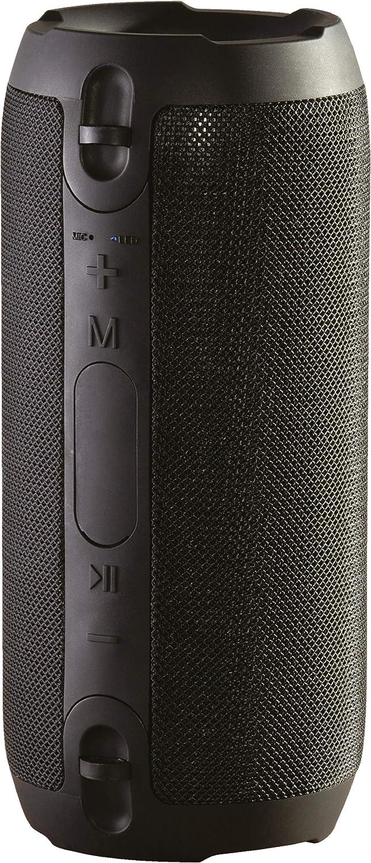 Daewoo Altavoz Bluetooth Recargable | Portátil para Uso en Interiores/Exteriores | Controlador de 5 W | Función FM | Bluetooth & Aux-In Compatible | Batería de Ion de Litio de 1500 mAh – Negro