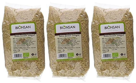 Bionsan Arroz Jazmín Integral - 3 Paquetes de 1000 gr - Total: 3000 gr: Amazon.es: Alimentación y bebidas
