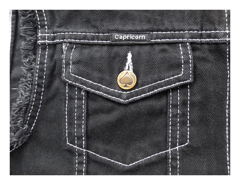 Jeans Weste schwarz mit ausgefransten Armen  Amazon.de  Bekleidung b811635e50